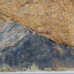 Contacto discordante por falla de capa de carbón. Sierra de la Demanda . Burgos