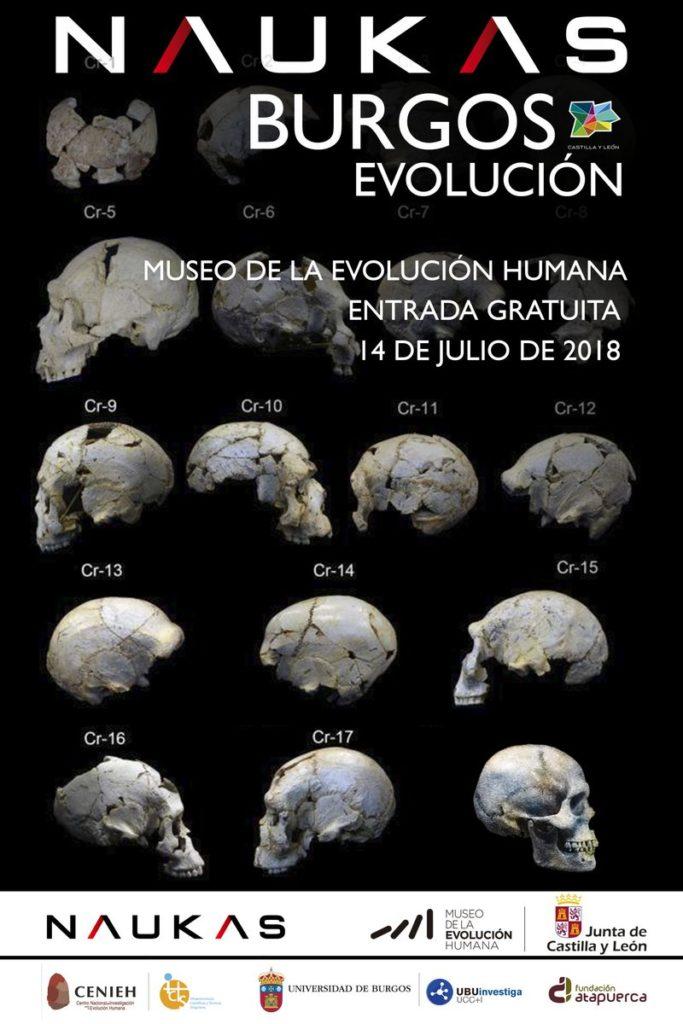 NAUKAS Evolución, 14 julio 2018, en el Museo de la Evolución Humana de Burgos