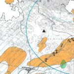 Fragmento Mapa Peligrosidad CyL 1/400mil. Dir. FJ Ayala-Carcedo