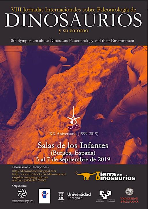 Cartel Jornadas Dinosaurios Sep 2019