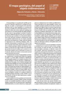 Primera página articulo El Mapa geológico, el papel al objeto tridimensional